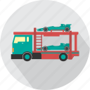 car, car transporter, delivery, road, transport, transporter, vehicle icon