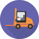 distribution, equipment, forklift, forklift truck, industry, transport, truck icon