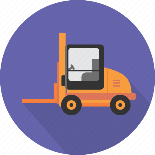 distribution, equipment, forklift, forklift truck, industry, transport, truck icon