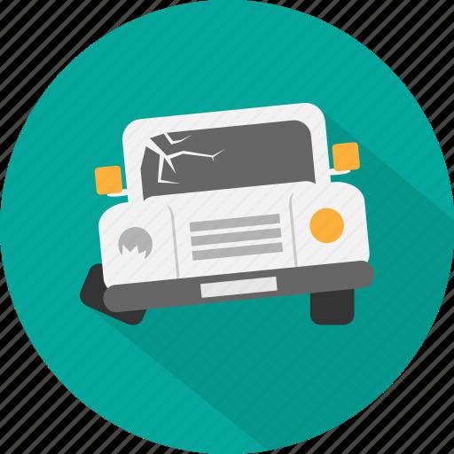 accident, crash, emergency, jeep, jeep crash, repair, transport icon