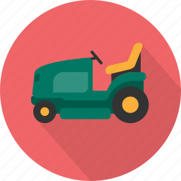 car, grass, lawnmower, lawnmower car, mower, nature, transport icon