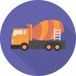 build, construction, engineering, mixer, mixer truck, transport, truck icon