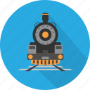 carriage, rails, station, train, transport, travel, vehicle icon