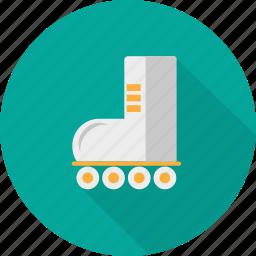 activity, footwear, roller, roller skates, shoe, skates, transport icon