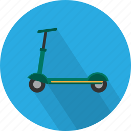 fun, push, ride, scooter, sport, transport, wheel icon