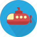 deep, marine, ship, submarine, transport, underwater, water icon