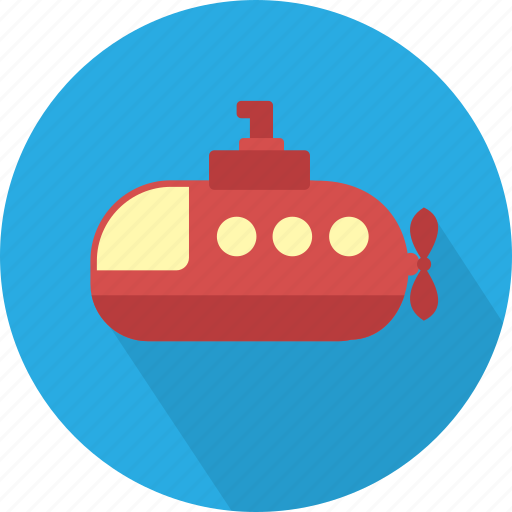 deep, marine, ship, submarine, transport, underwater, water icon