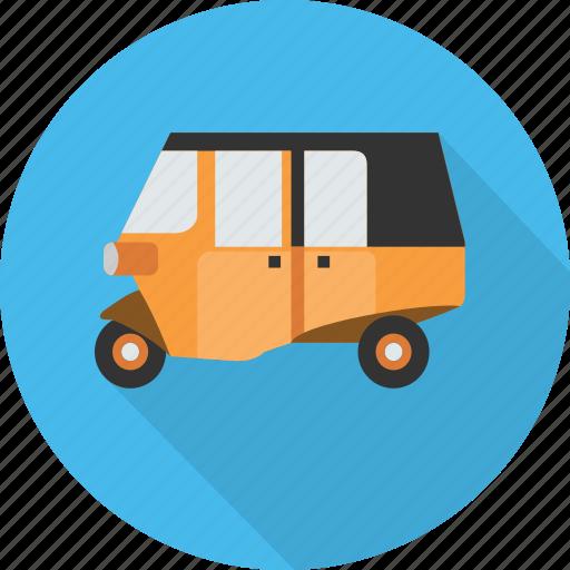 bajaj, jakarta, street, tourism, transport, vehicle, vintage icon
