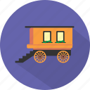 antique, carriage, transport, wagon, west, wheel, wild icon