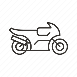 motorcycle, sportbike, sports, transport, transportation icon