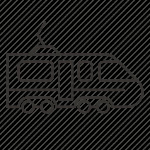 locomotive, railway, tram, transport icon