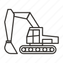 construction, equipment, excavator, heavy, machinery icon