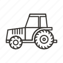 agriculture, agro, farm, tractor, transport, truck, vehicle icon