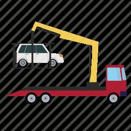 crane, transport, transportation, vehicle icon