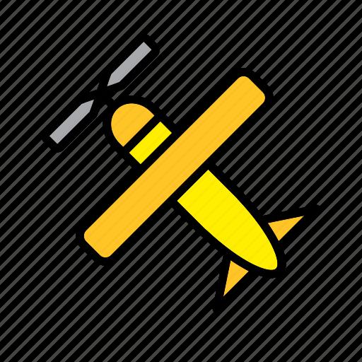 aircraft, airplane, light aircraft, plane, transport icon