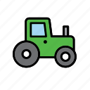 farm, tractor, transport, vehicle icon