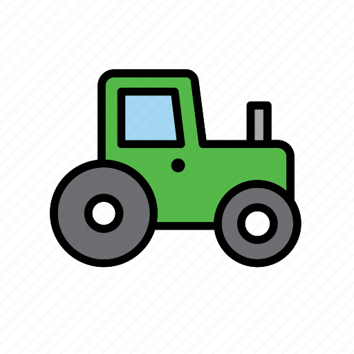farm, tractor, transport, vehicle icon