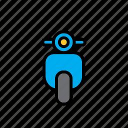 moto, motorcycle, transport, vespa icon