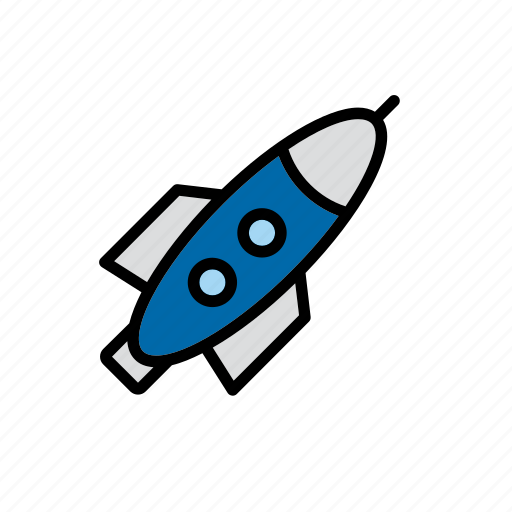 rocket, space, spacecraft, spaceship, transport icon
