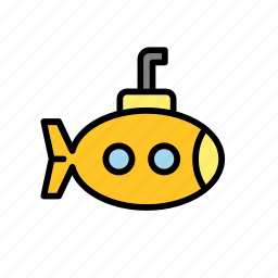 ocean, sea, submarine, transport, water icon