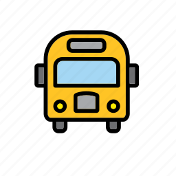 bus, school, transport, vehicle, yellow icon