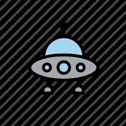 alien, spacecraft, spaceship, transport, ufo icon