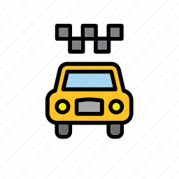 auto, automobile, cab, new york, taxi, transport, yellow icon