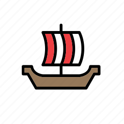 boat, galley, sailing, ship, transport, viking, yacht icon