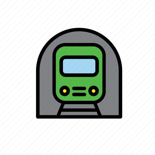 metro, subway, train, transport, underground icon