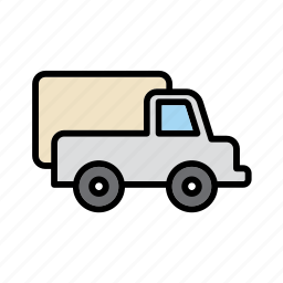 transport, transportation, truck, van, vehicle icon