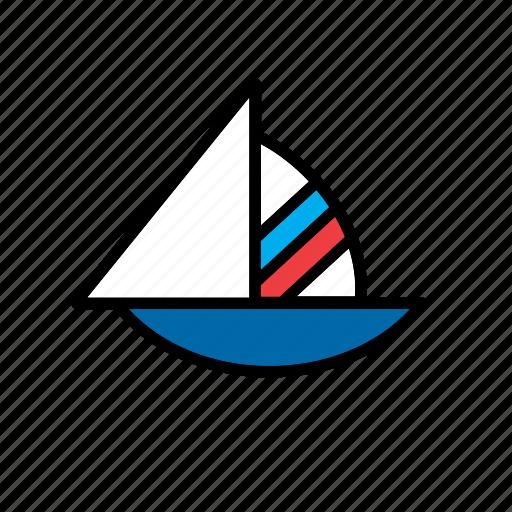 boat, sail, sailboat, sailing, transport icon