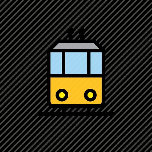 car, streetcar, tram, transport, trolley, vehicle icon