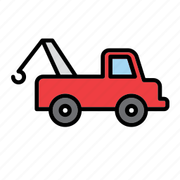 auto, car, garage, repair shop, tow, truck, van icon