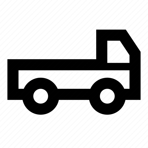 car, delivery, flat, pickup, platform icon