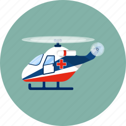 air ambulance, aircraft, emergency, fly, healthcare, helicopter, medical icon