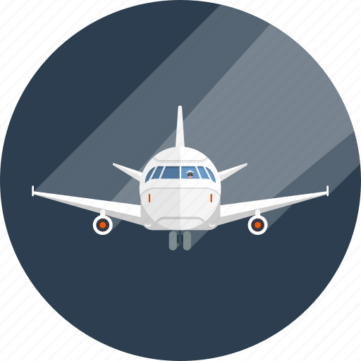 airline, airplane, fly, plane, shipping, traffic, transit icon