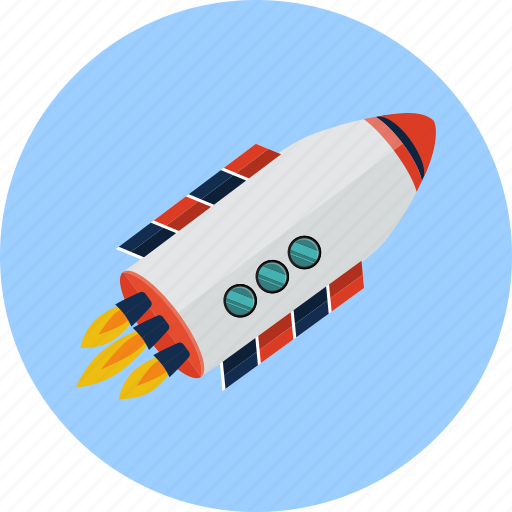 aerial, cosmos, flying, rocket, space, spaceship icon