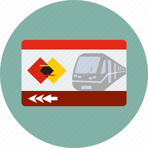 access, cardboard, pass, public, subway, ticket, train icon