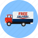 courier, delivery, logistics, product, retail, shipping, truck icon