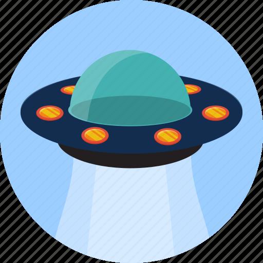 alien, fly, spaceship, transport, ufo icon