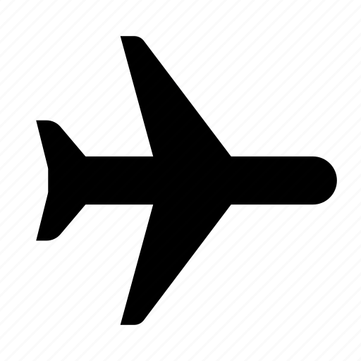 aeroplane, aircraft, airplane, airport, flight, plane, transport icon