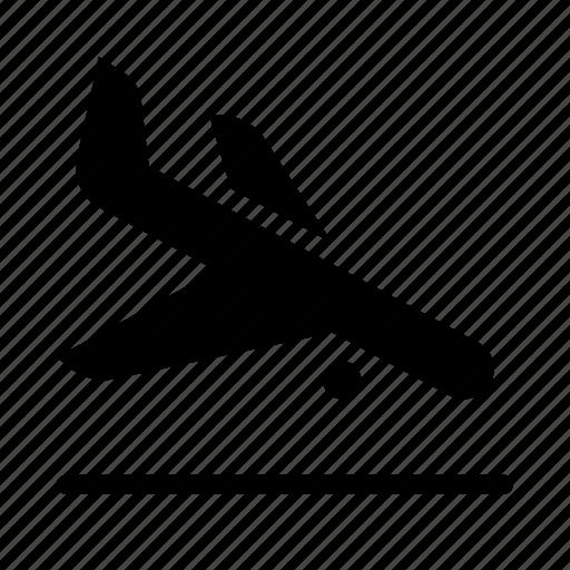 airplane, airport, flight, landing, plane, transport, travel icon