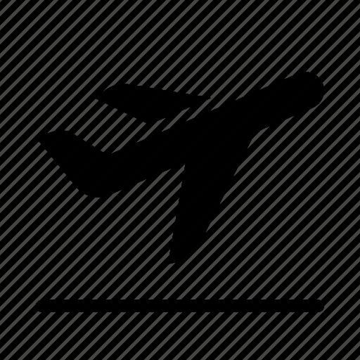 airplane, airport, flight, plane, take off, transport, travel icon