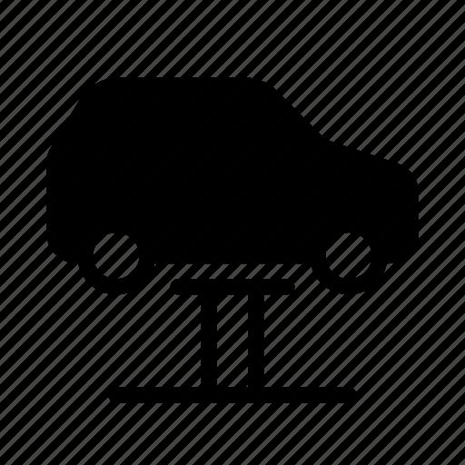 auto, car, garage, lift, repair, service, servicing icon