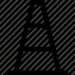 cone, construction, post, traffic, under, urcross icon