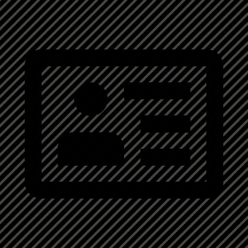 driver, id, license, profile icon