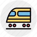 metro, subway station, train, transport, travel, tunnel icon