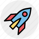 fly, rocket, space, space ship, transport, vehicle icon