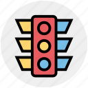 light, pole, regulation, traffic, traffic light, transport, transportation icon