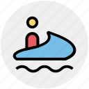 boat, motor, motor boat, speed, speed boat, transport icon